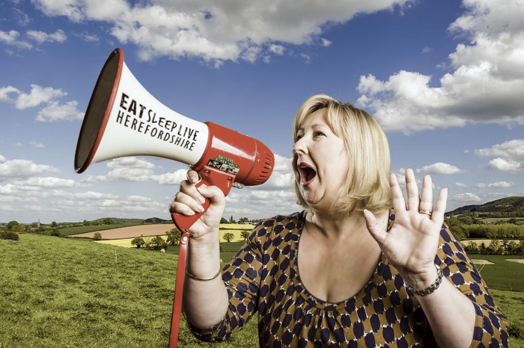 Heidi Chamberlain Jones Shouting about Herefordshire