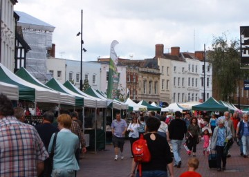 Photo of Hereford Farmers Market in the city centre