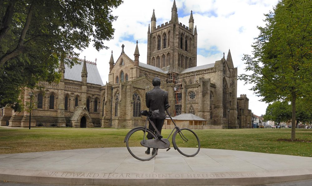 Elgar Statue outside Hereford Cathedral