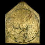 Photo of the Mappa Mundi which is in Hereford Cathedral