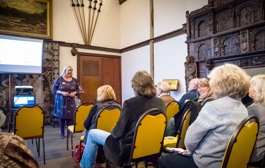 Heidi Chamberlain-Jones speaking at ESLH Forum at Burton Court in Herefordshire