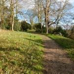 The pathway at The Weir Garden