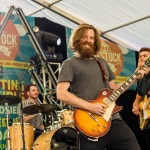 Photo showing bands playing at Livestock Festival near Tewkesbury