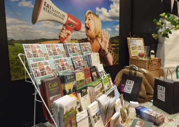 Photo of stand promoting Herefordshire tourism and its local businesses