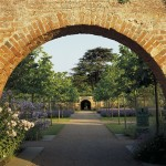 Photo of the gardens at Hampton Court in Herefordshire