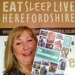 A picture of Heidi Chamberlain Jones launching The Ultimate Herefordshire Guide