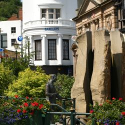 Malvern - Elgar Statue & Enigma Fountain