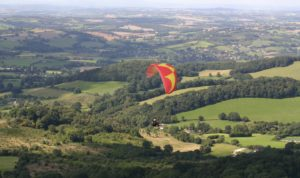 A picture of Malvern Hills to West Hang Glider 1 over Herefordshire