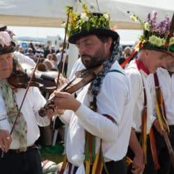 A picture of Morris dancers at Shobdon Food & Flying Festival