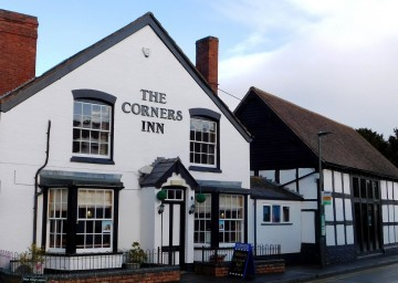 A picture of the front of The Corners Inn