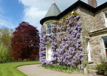 Brobury House and gardens in Herefordshire