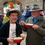 A picture of people eating at Kington walks Goulash Evening
