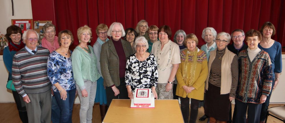 Guild of Guides celebrating 35 years with cake