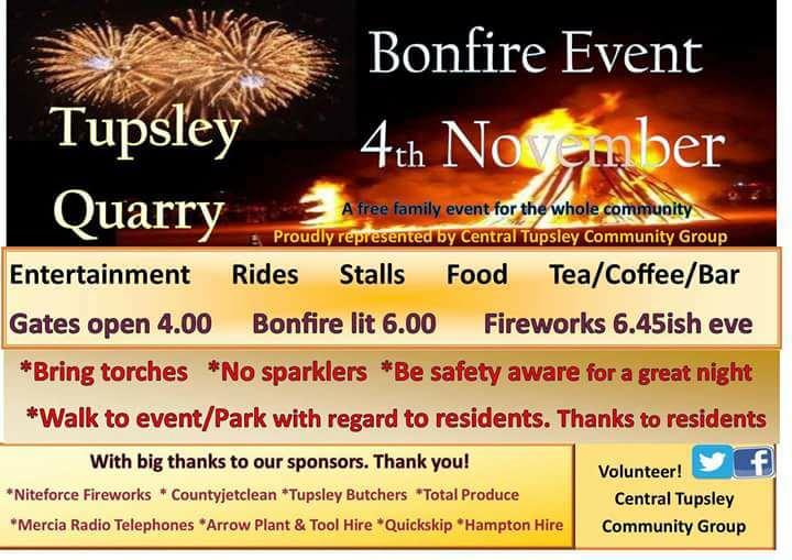 Tupsley Quarry Bonfire Event