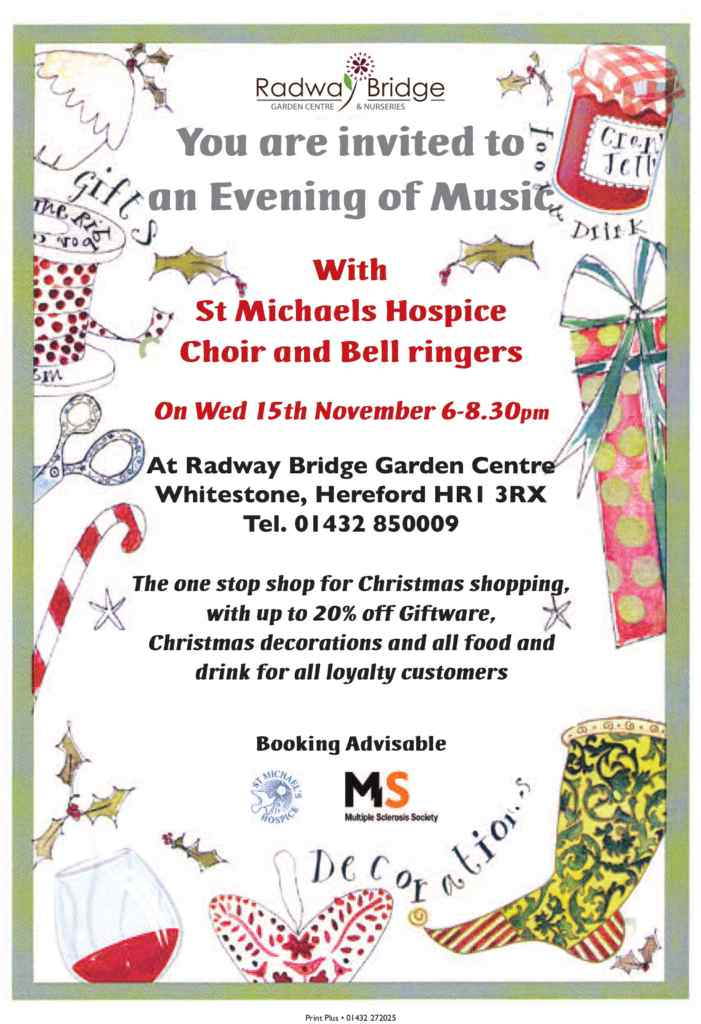 Christmas Preview Night at Radway Bridge Garden Centre