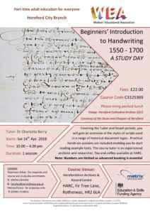HARC Handwriting Introduction Course
