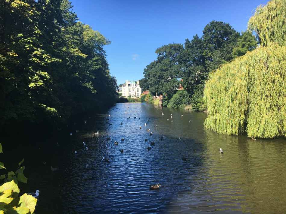 The Old Castle Moat at Castle House Hotel in Hereford