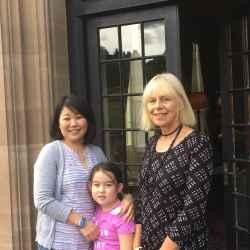 Marina, Amelie & Jan Lucas-Scudamore Kentchurch Court)