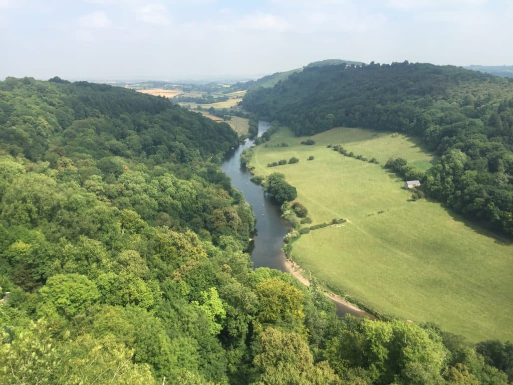 Ariel view of Symonds Yat, Herefordshire