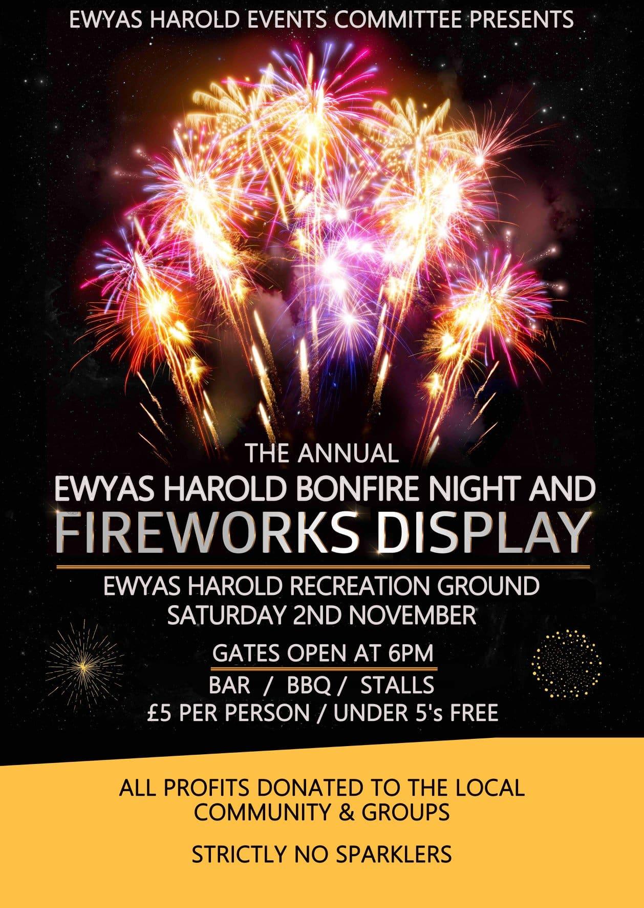 Ewyas Harold Bonfire Night and Fireworks Display