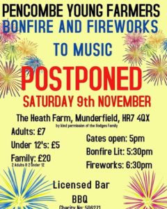 Pencombe Young Farmers Fireworks