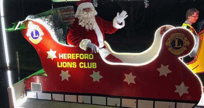 Hereford Lions Santa Sleigh