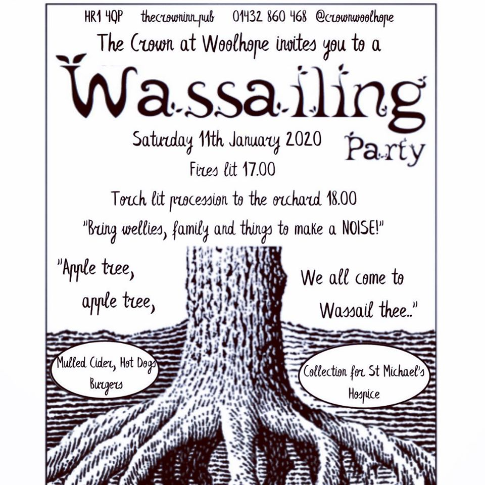 Poster depicting Wassailing in Herefordshire