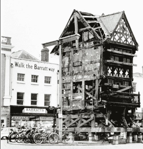 Moving Of 17th Century House