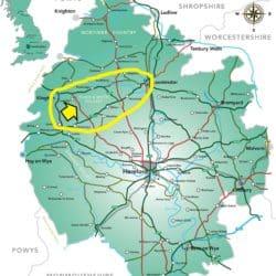Herefordshir Map of Herefordshire Black & White Villages