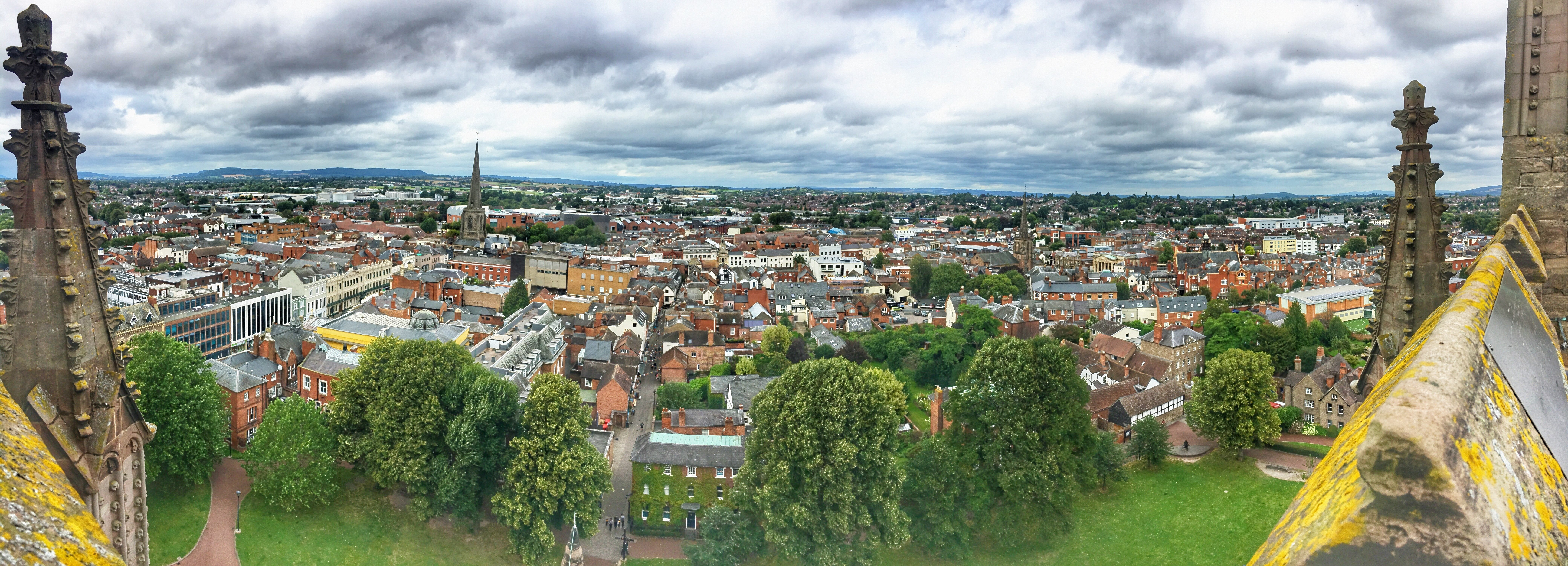 hereford city arial view