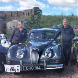 Tricia and Richie Thomas and their 1955 Jaguar XK140