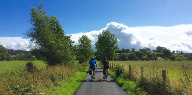 Cyclists in Teme Valley by S Fawcett