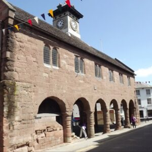 Ross Market House and flags
