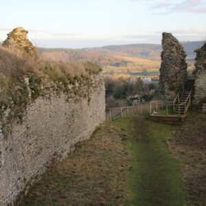 Wigmore Castle from within