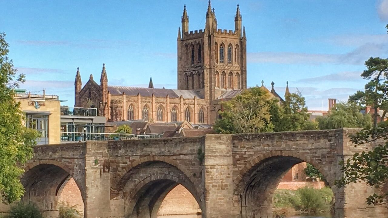 Old bridge and cathedral