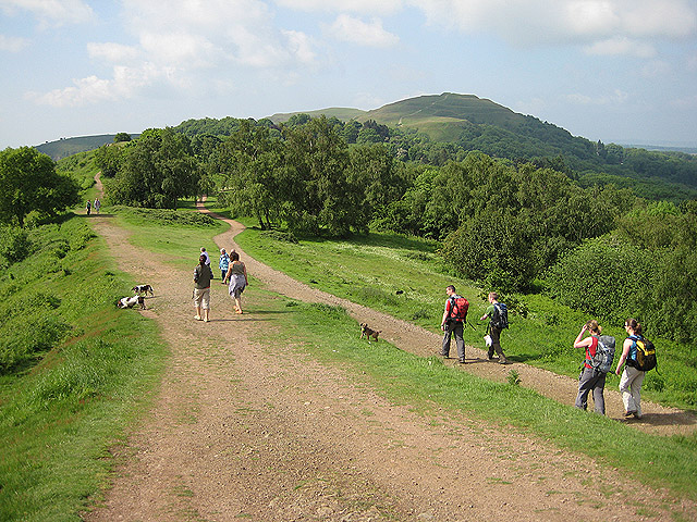 Walkers on the Malvern Hills geograph.org .uk 825312 paul eccles