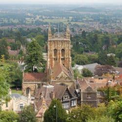 Photo showing Malvern Priory - tourist attraction near Herefordshire