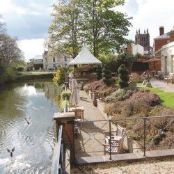 Castle House Hotel riverside garden
