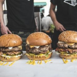 3 delicious looking Burgers made by The Beefy Boys