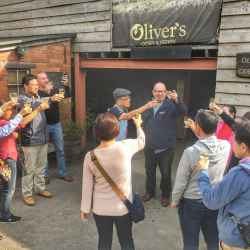 Cheers at Oliver's Cider