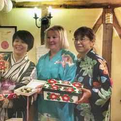 Juliet (Lowe Farm B&B) and Ladies receiving gifts