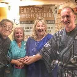 Professor Shinji Aoki (Tokyo), Juliet Willams (Lowe Farm B&B), Heidi Chamberlain-Jones (Eat Sleep Live Herefordshire) & Steven Harris (Farm Stay UK)