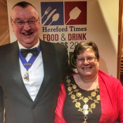 The Right Worshipful The Mayor of Hereford Councillor Sue Boulter and her Consort Mr David Boulter