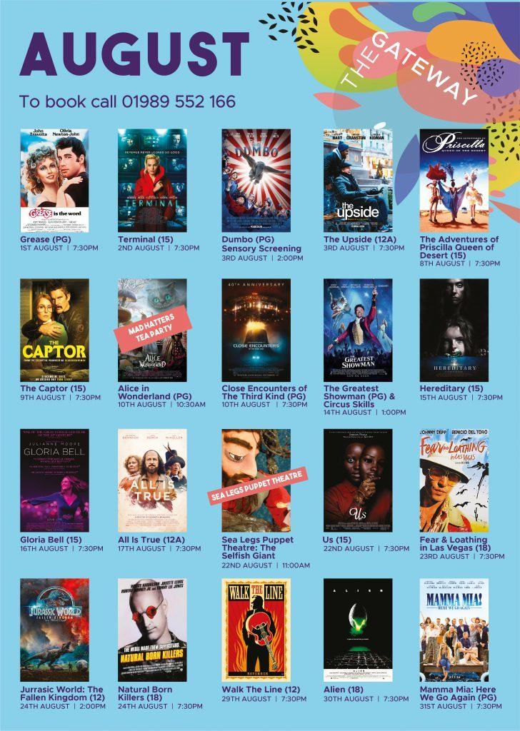 August films showing